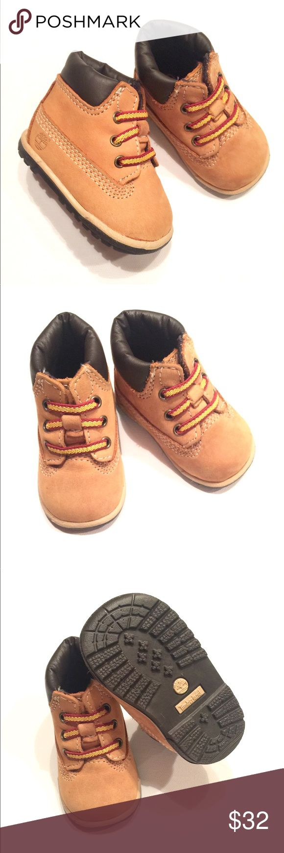 🐯Timberland Baby Boots🐯 🐯Timberland Baby Boots. NWOT wheat nubuck boots with dark brown rubber soles. Size 0 🐯 Timberland Shoes Boots