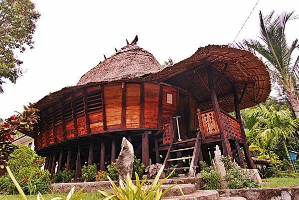 Nias House at Mentawai Island Sumatera - Indonesia