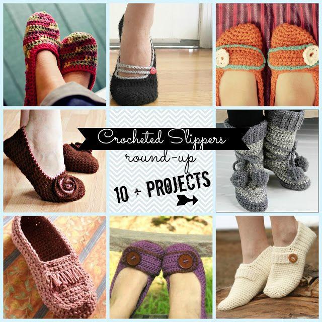 Crocheted Slippers - roundup!