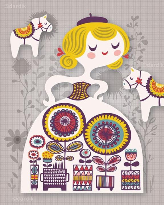 My Swedish Garden Print by Helen Dardik - Huset-Shop.com | Your House