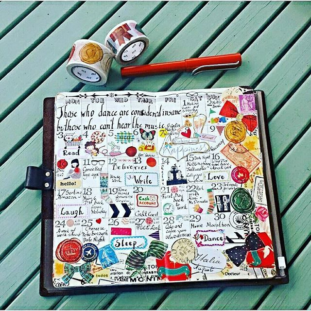 August  wrapped  up☺ #midori #midoritravelersnotebook  #travellersnotebook  #fauxdori  #midorilove  #midoriaddict #plannergoodies  #planneraddict  #plannerlove  #planner #organisers  #organiseraddict #organiserlove  #organised  #organiser #paperlove  #paperaddict #papercrafting #stationerylove #stationeryadict #washitape #washilove #washiaddict #mtwashitape #stickers #stamping #cavalini  #colours #august #calender