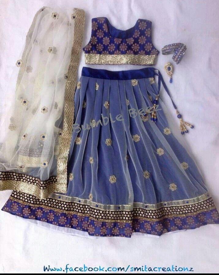 Royal blue Lehenga