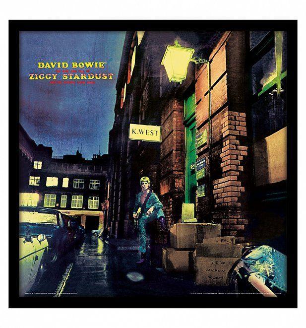 "David Bowie Ziggy Stardust 12"" Album Cover Print"