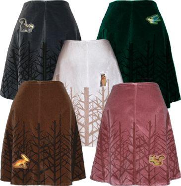 winter woods skirt! love.