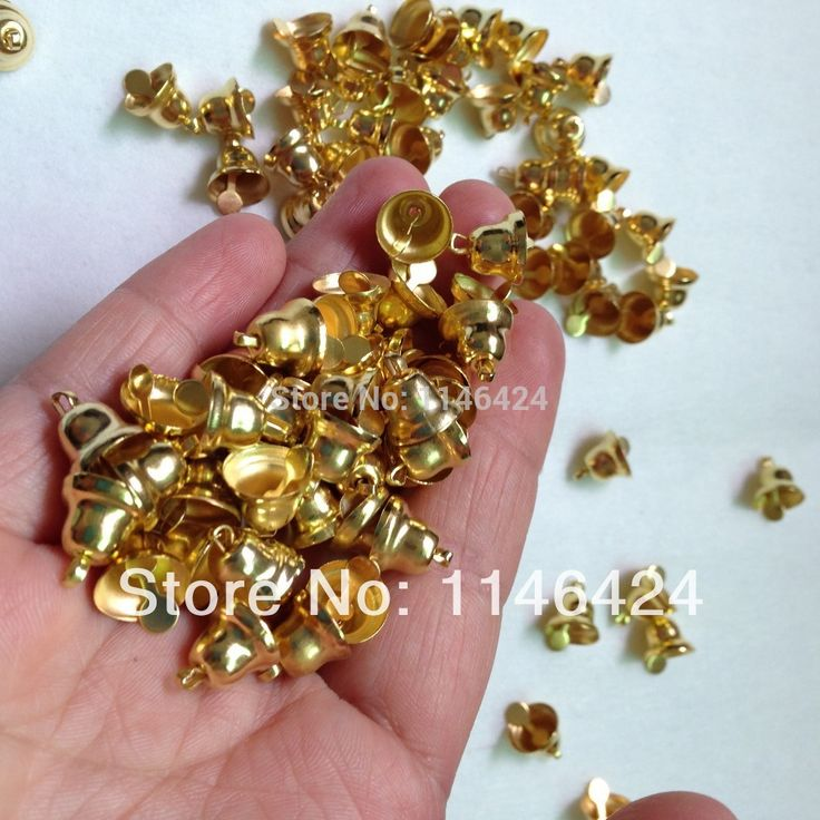100pieces/lot 10MM*11MM Small Jingle Bells Gold Silver For Christmas Decors Handmade Jewelry-in Christmas from Home & Garden on Aliexpress.com | Alibaba Group