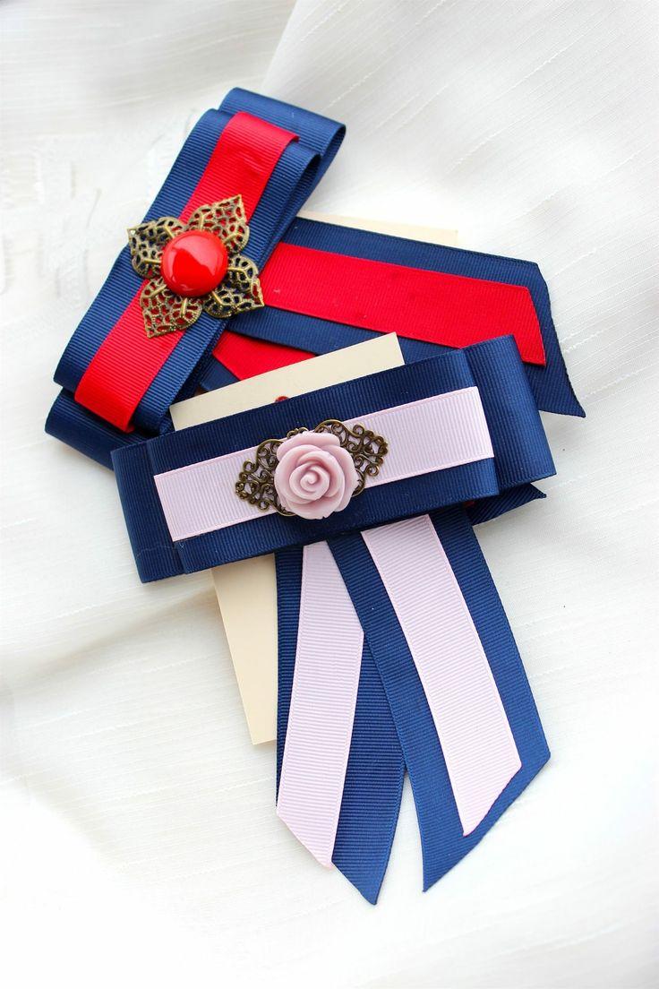 Vintage brooches  Bows / Handmade by Daniela Igret / DIY