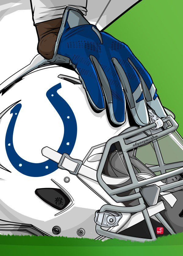 "NFL Team Helmets Indianapolis Colts #Displate artwork by artist ""Akyanyme Dotcom"". Part of a 32-piece set featuring helmet designs based on team emblems from the NFL National Football League. £38 / $51 per poster (Regular size), £76 / $102 per poster (Large size) #NFL #NationalFootballLeague #AmericanFootball #SuperBowl #IndianapolisColts #Colts"