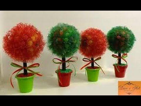 """Como Fazer um Centro de mesa - árvore de jujuba  (completo) -gumdrop tree"""" jujube """""""