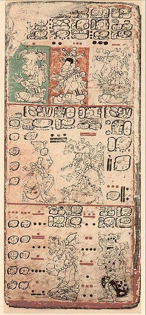 Los códices mayas son libros escritos antes de la conquista y muestran algunos rasgos de la civilización maya. En su escritura se emplean caracteres jeroglíficos. Los códices han sido nombrados tomando como referencia la ciudad en la que se localizan. El Códice Dresde es considerado el más importante. Los mayas desarrollaron su papel en una era relativamente temprana, hay pruebas arqueológicas del uso de cortezas desde inicios del siglo V. Ellos lo llamaban huun.
