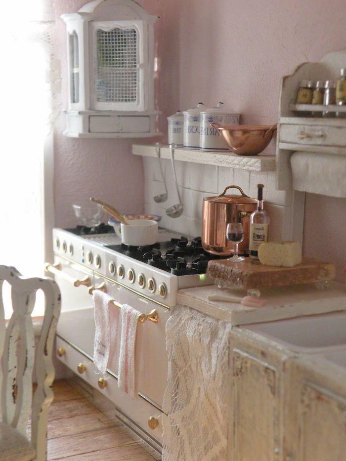 Lieblich Vintage Küche Elemente In Der Küche Herd Kochbereich Topf Wein Trinken Und  Kochen