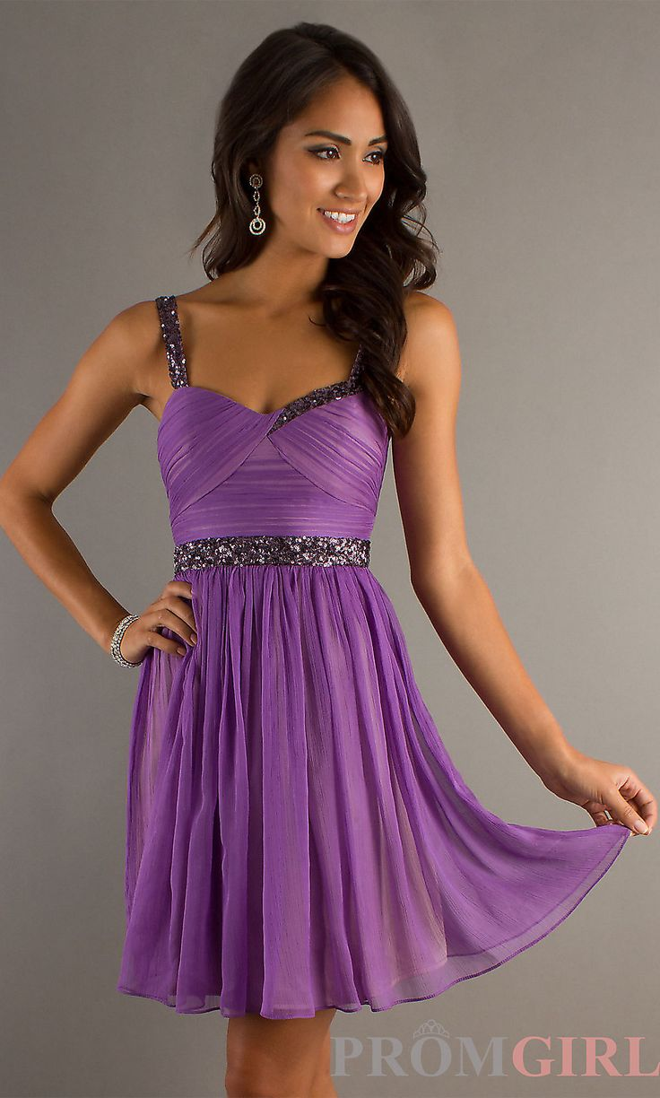 Purple Short Semi Formal Dress, Purple Junior Prom Dress-PromGirl.    Maybe not purple though.