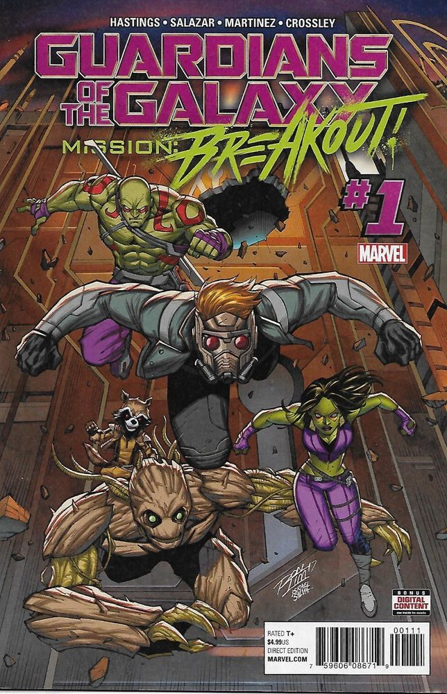 Guardians Of The Galaxy Comic Issue 1 Mission Breakout Modern Age First Print Galaxy Comics Cosmic Comics Marvel Comics Covers