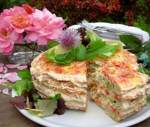 A French Country Affair! Elegant Omelette Gateau W Chive Flowers Recipe - Food.com