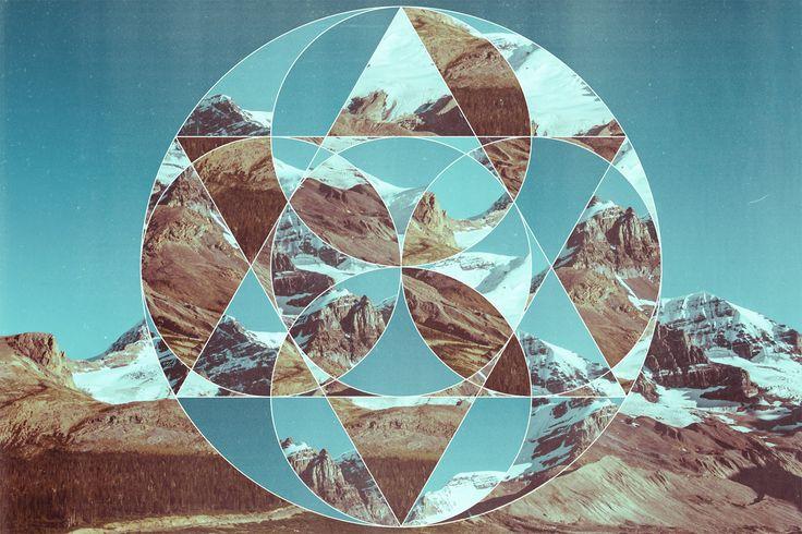 datacommon hero design inspiration + tutorial // Abstract Geometric Photo Collage Art / Chris Spooner