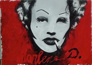 Marlene D.   Acrylic on canvas.  18.04.2012