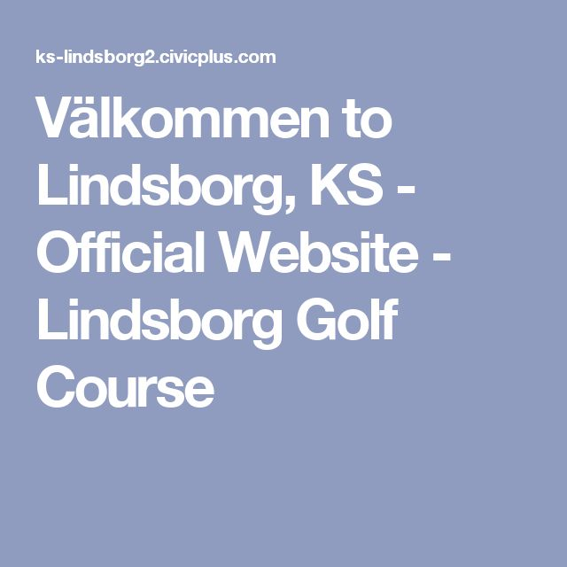 Välkommen  to Lindsborg, KS - Official Website - Lindsborg Golf Course