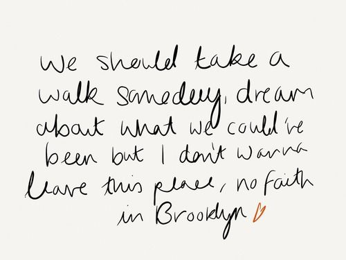 No faith in brooklyn ~Hoodie Allen
