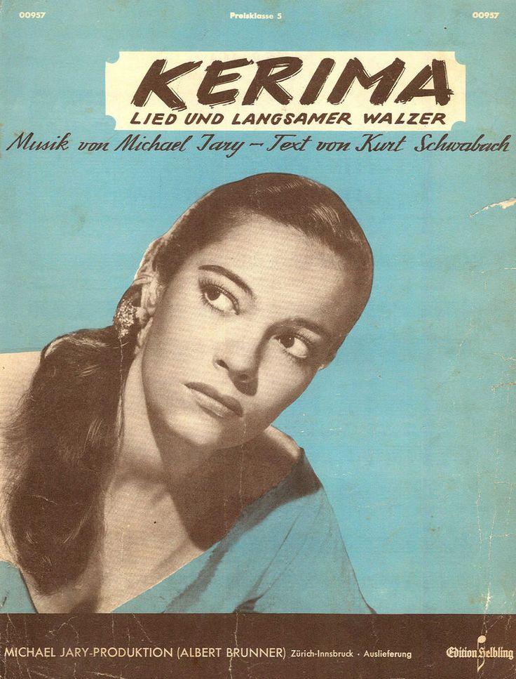 MICHAEL JARY - KERIMA - LIED UND LANGSAMER WALZER - 1951 - ORIG. MUSIKNOTE