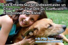 Saviez-vous que les enfants qui grandissent avec des chats et des chiens possèdent une intelligence émotionnelle plus importante ?  Découvrez l'astuce ici : http://www.comment-economiser.fr/enfants-qui-grandissent-avec-animal-ont-coefficient-emotionn.html?utm_content=buffer16312&utm_medium=social&utm_source=pinterest.com&utm_campaign=buffer
