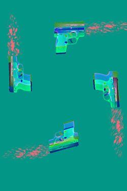 "Saatchi Art Artist Veronica Formos; New Media, ""Gun time II (LIMITED edition- 5 pieces)""  #art #newmedia #print #printmaking #tank #pink #contemporaryart #digital #photoshop"