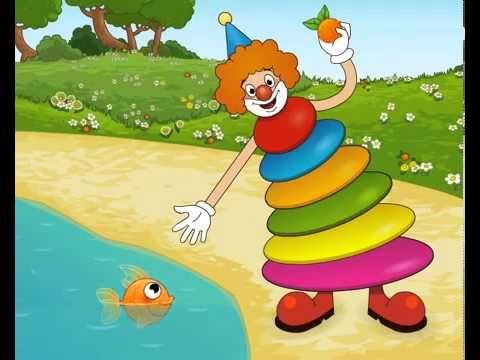 """https://www.youtube.com/watch?v=PrbApBISm7I  Веселая радуга. Развивающий мультфильм для детей  Мы предлагаем Вам познакомиться с детским мультсериалом «Веселая радуга», в каждой серии которого ребенок будет знакомиться с одним из цветов радуги.  Веселая радуга"""" - это обучающий мультсериал для детей от 1 года до 5 лет.  Ваш малыш очень быстро запомнит все цвета. Веселая песенка из мультфильма поможет в обучении. Цвета: красный, оранжевый, жёлтый, зелёный, голубой, синий, фиолетовый."""