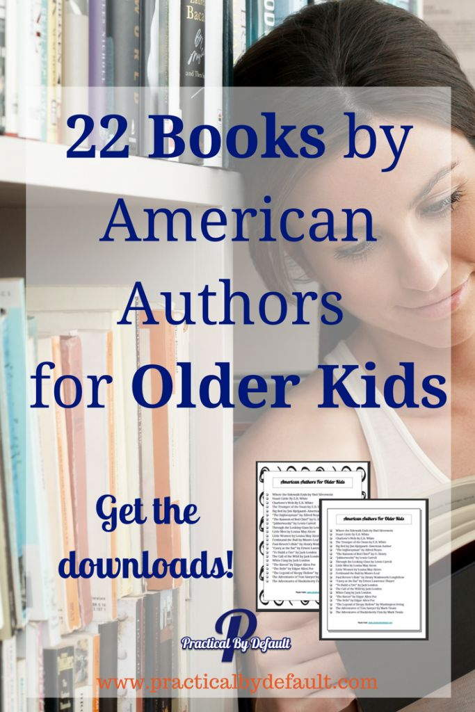 Finding books for older children is a challenge. Here are 22 Books by American Authors for your teen. Printable lists are available. via @practicalbydefa