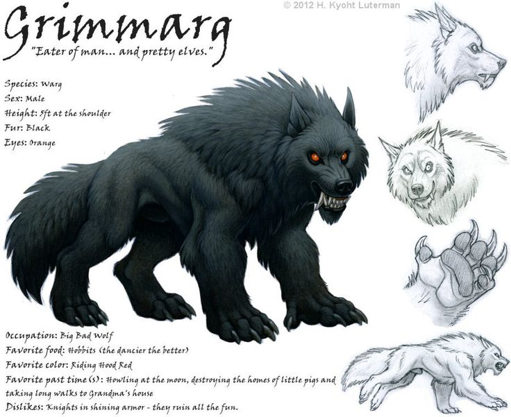 Grimmarg the Warg by kyoht on deviantART