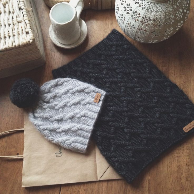 Knitted hat and snood
