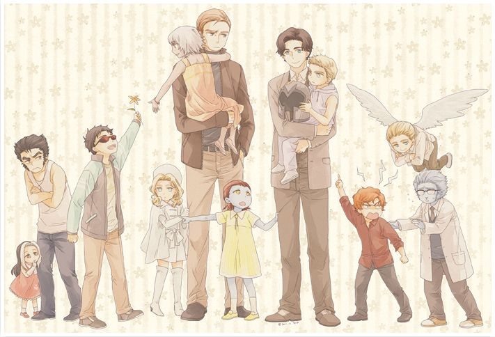 X-Men: First Class - a cute AU where Charles and Erik are foster parents for mutants.  It would be soooooo adorable!