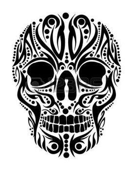 lebka tetování: tetování kmenové lebka vektor