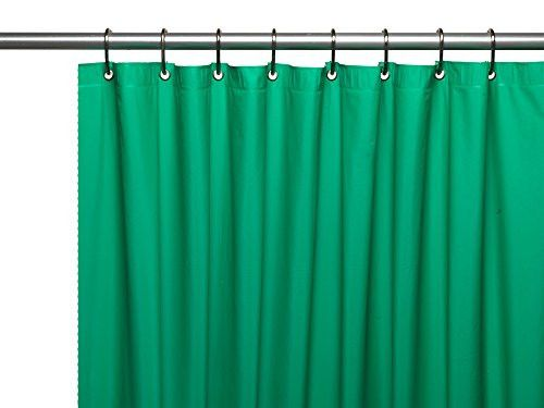 "Royal Bath Extra Heavy 8 Gauge Vinyl Shower Curtain Liner with Metal Grommets (72"" x 72"") - Emerald"