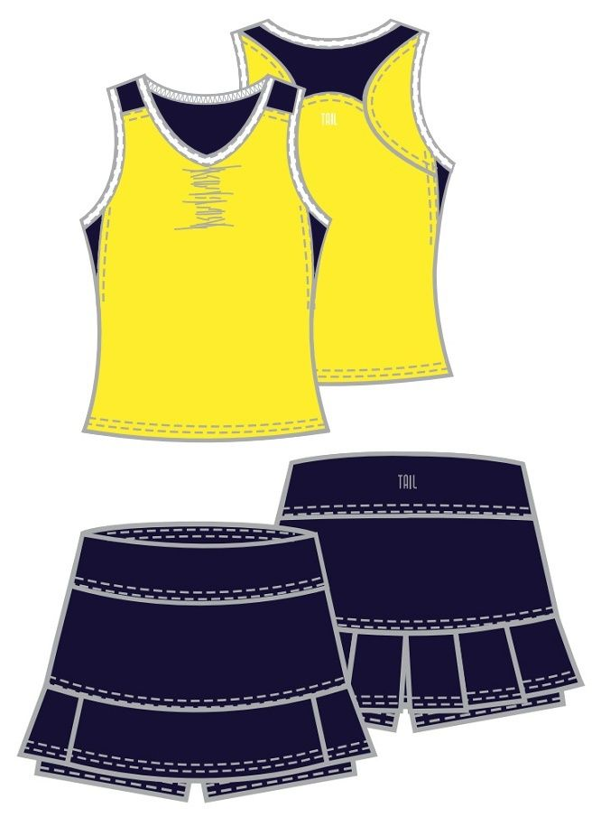 Check out what Nicole's Tennis Boutique has to offer for on and off the court! Tail Ladies & Plus Size Tennis Outfits (Tank & Skort) - Navy Regatta (Taura/Tamara)