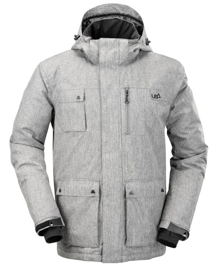Mens Olen Gargoyle Grey Technical Ski & Snow Jacket | Urban Beach UK| http://www.urbanbeach-surf.co.uk/