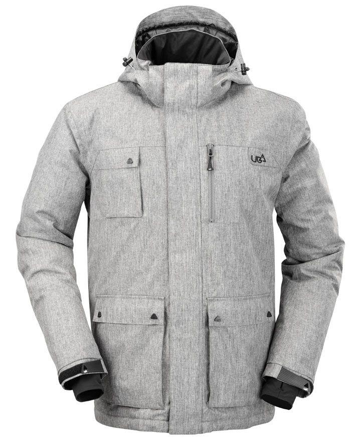 Mens Olen Gargoyle Grey Technical Ski & Snow Jacket | Urban Beach UK| http://www.urbanbeach-surf.co.uk/