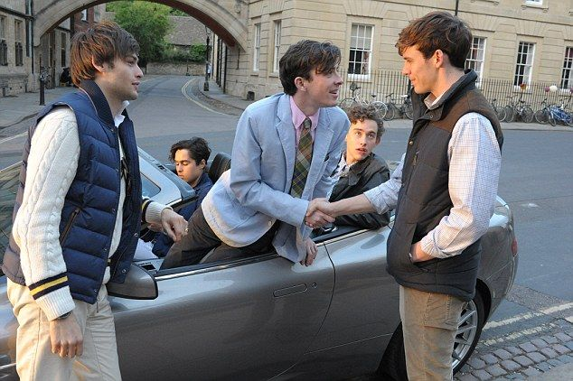 Douglas Booth, left, starred as Harry and Sam Claflin, right, played Alistair in the hit movie The Riot Club