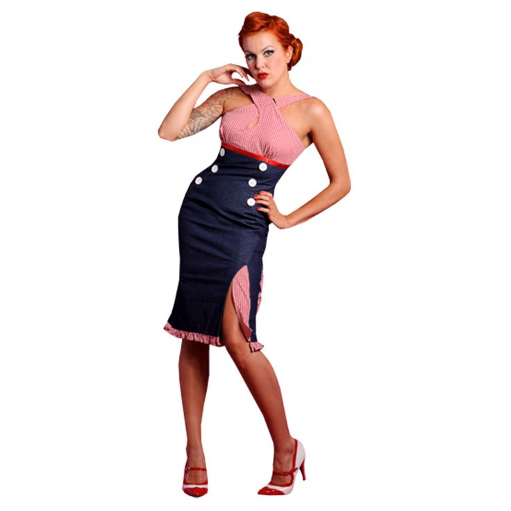 Miss Candyfloss Kleid Rot Gingham Denim 50Er Jahre Retro Vintage Pertaining To 50Er Mode Damen Hausdesign Das Beste 50Er Mode Damen