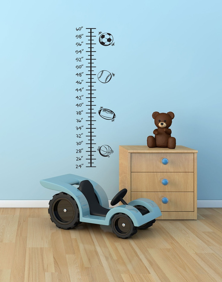 Pinterest Playroom Wall Decor : All about sports childrens vinyl growth chart decal