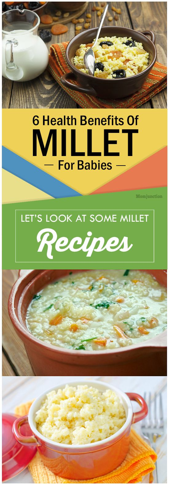 6 Amazing Health Benefits Of Millet For Babies: illets are an easily digestible, non-glutinous and nutritious meal. You can start feeding your six-month-old baby millet.