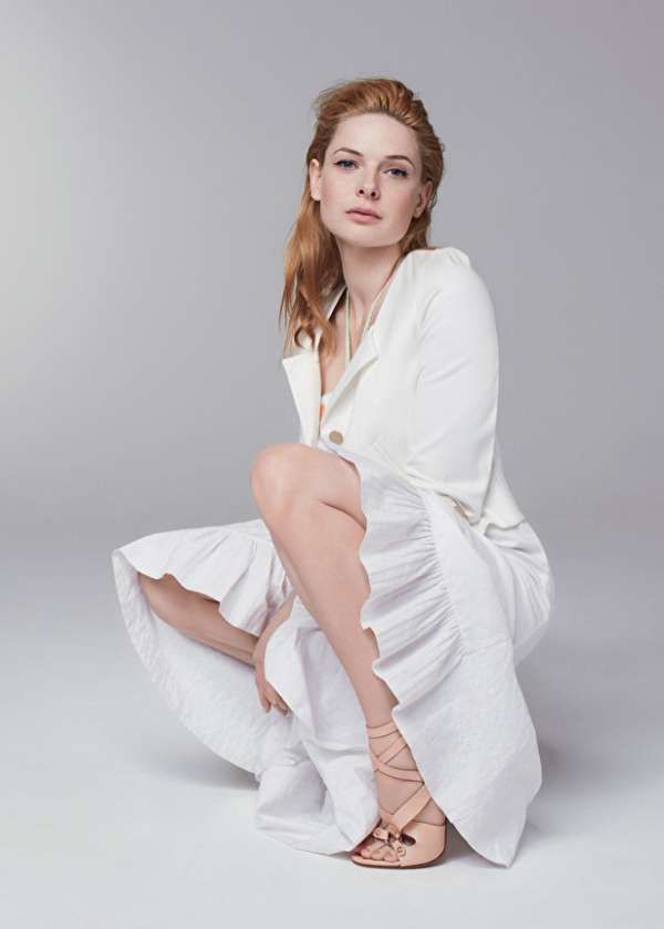Rebecca Ferguson in White Gown