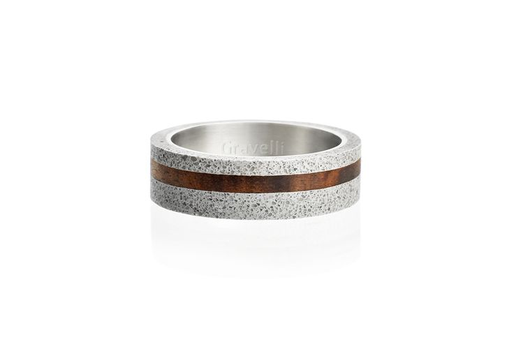 Concrete ring Gravelli Simple Wood in grey variant.