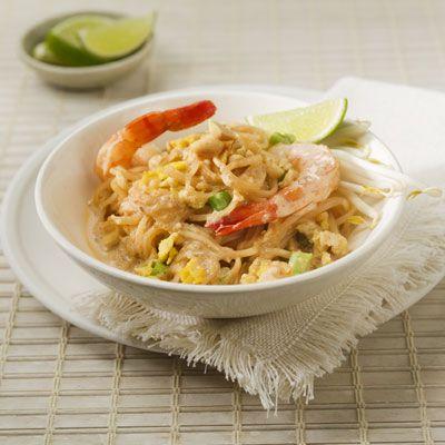 Pad Thai Casero Con Salsa Cremosa de Cacahuate (Maní)