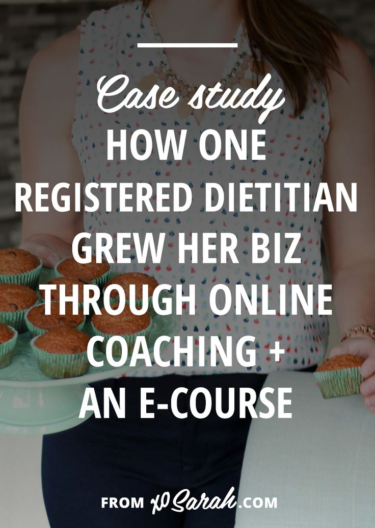 CASE STUDY: Registered dietitian Andrea Hardy shares how she started her business and grew her income by offering online nutrition coaching and an e-course.