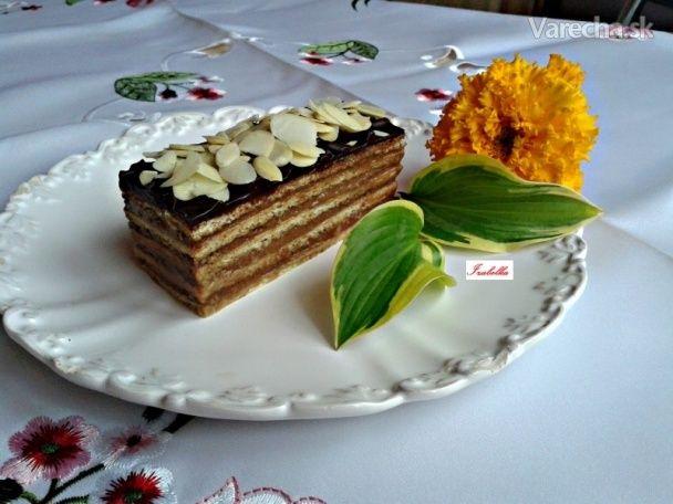 Medové dobošové rezy s karamelovým krémom (fotorecept)