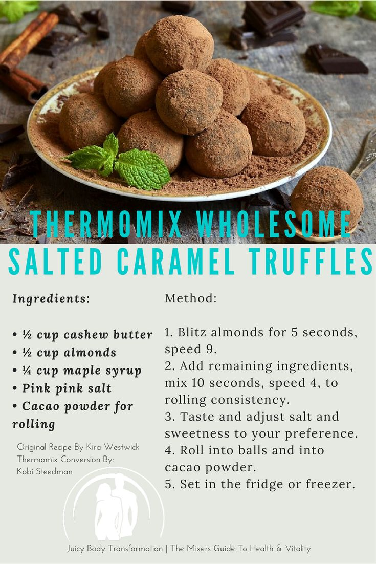 Thermomix Salted Caramel Truffles