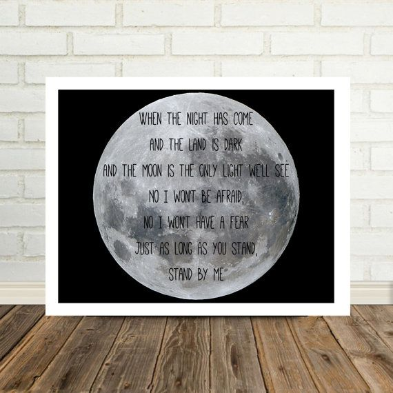 Stand By Me Ben E King Song Lyric Art Music by DefineDesignEtc
