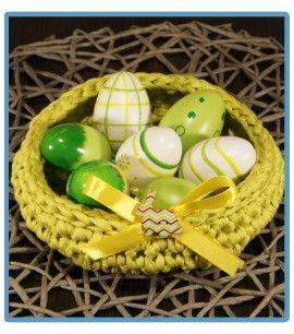 ręcznie robiony koszyk żanetka handmade ze sznurka bawełnianego