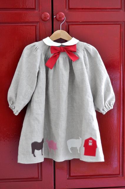 Linen dress for L