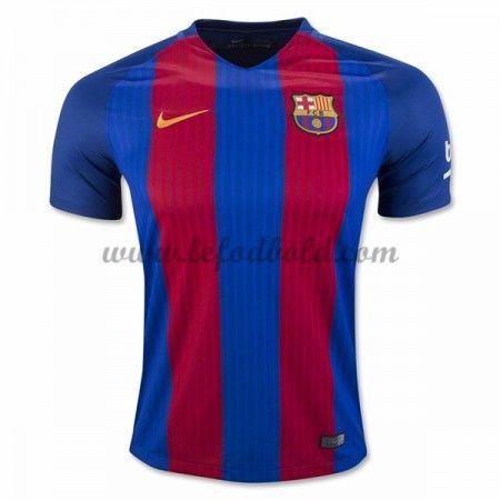 Billige Fodboldtrøjer Barcelona 2016-17 Kortærmet Hjemmebanetrøje