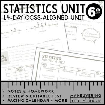 6th Grade Statistics Unit: 6.SP.1, 6.SP.2, 6.SP.3, 6.SP.4