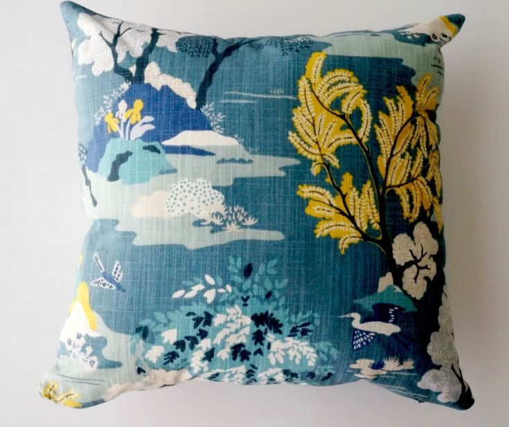 Asian pillow cover, teal pillow cover, Asian pillow, chinoiserie pillow, toile pillows, Asian decor, peacock blue pillow by OliviasSmileDecor on Etsy https://www.etsy.com/listing/533570421/asian-pillow-cover-teal-pillow-cover